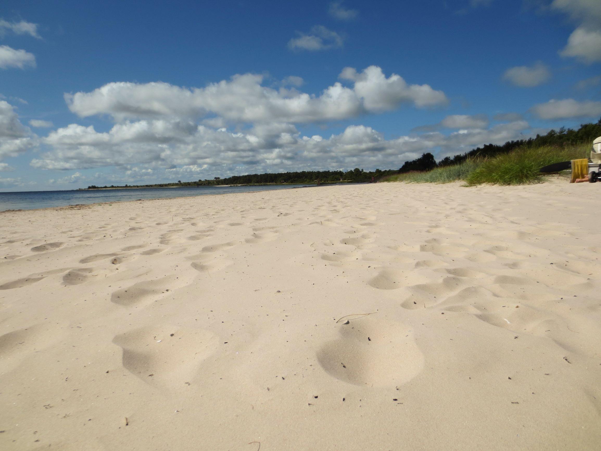 Spår i sanden Sudersand