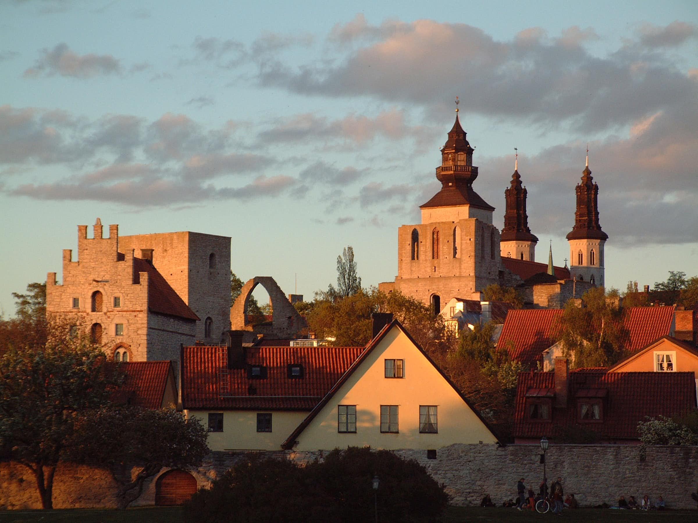 Utsikt från Almedalen i Visby